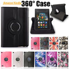 NEW LEATHER 360 STAND FLIP CASE COVER FOR AMAZON KINDLE FIRE 7,HD 8,HD 10 (2015)