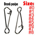 Lot 100 Stainless Steel Fishing Snaps Fastlock Clips for Lures & Barrel Swivel