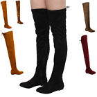 NATURE BREEZE FD72 Women's Stretchy Thigh High Over The Knee Flat Heel Boot