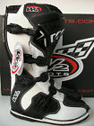 NEW WIND W2 ENDURO Sz 10.5 MOTOCROSS BOOTS WHITE LEATHER MX CR KX RM YZ SX XCF