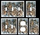PINE CONE WINTER SNOW COVER LIGHT SWITCH COVER PLATE U PICK  PLATE SIZE