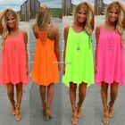 2016 Women Sexy Summer Casual Sleeveless Evening Party Beach Short Sundress