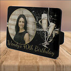 Personalised 18th 21st 30th 40th 50th Birthday WOOD PHOTO KEEPSAKE PRINT GIFT