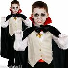 Boys Classic Victorian Vampire Dracula Halloween Fancy Dress Costume Kids 4-12