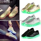 Fashion Unisex USB LED Light Lace Up Luminous Shoes Sneaker Casual Shoes N4U8