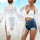 Summer Women Bathing Suit Lace Tassel Bikini Swimwear Long Cover Up Beach Dress