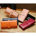 New Fashion Women Cow Leather Clutch Long Wallet Card Holder Case Purse Handbag