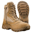 SWAT Mens Chase 9 Side Zip SP 131202 Tan Leather Tactical Boots SWAT New