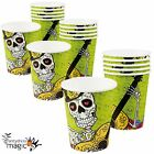 Halloween Mexican Day Of The Dead Festival Skeleton Sugar Skull Paper Party Cups