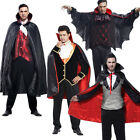 Adult Halloween Costume King Vampire Cosplay Demon Cloak Outfit Men Fancy Dress