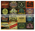 MORBID ENTERPRISES Novelty Label HALLOWEEN Bottle Sticker *YOU CHOOSE* $.99ea@4*