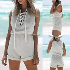 Sexy Women Sleeveless Short Casual Jumpsuit Paysuit Rompers for Casual Beach