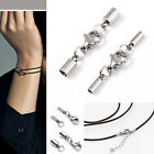 2mm 3mm Silver Stainless Steel Leather Choker Necklace Cord Clasps 10pcs