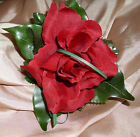 WEDDING FLOWERS OPEN ROSE buttonhole  MANY COLOURS