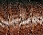 Waxed Irish Linen Crawford Bead Cord 4 ply 0.82 mm 5 - 90 yards WALNUT BROWN