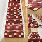Gridlock Red - Stair Carpet Runner For Staircase Modern Quality Cheap New Wilton