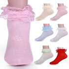 3 Pairs Children Girls Toddlers Girls Solid Lace Cotton Breathable Casual Socks
