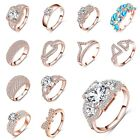 Gorgeous Size 5-9 Jewelry Women Engagement Ring Band 18K Gold Filled Rose Gold