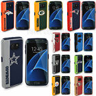 Official NFL Impact Hybrid Armor Fan Case + Tempered Glass for Samsung Galaxy S7