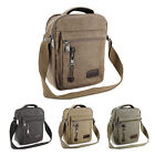 Men's Gents Travel Work Canvas Small Messenger Style Shoulder Bag Satchel