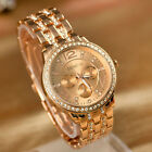 Women's Bracelet Stainless Steel Crystal Analog Quartz Dial Wrist Watch PHNG