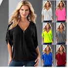 T shirts Ladies Casual Women Blouse Tops V-Neck T-Shirt Short Sleeve Tshirts