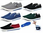 New Fashion Men Flats Loafers Slip On Canvas Sneakers Boat Casual Shoes