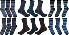 RJM Mens Multi Coloured Stripe Sock Size 7-11