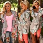 Womens Loose Long Sleeve Cardigan Sweater Knitted Cardigan Outwear Shawl Coat