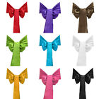25PCS WEDDING DECORATION SATIN CHAIR COVER BOW SASH MANY COLOR