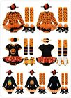 4PCS Baby Girls Toddler Halloween Party Outfit Romper Headband Shoes Dress Set