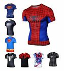 New Gym Fitness Bodybuilding Compression Shirt Superhero Superman 3D T Shirt
