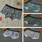 Mens Boxer Shorts Brief Leopard Print Seamless Underwear Underpants Trunks U8C2