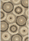 Orian Gray Transitional Synthetics Petals Dots Loops Area Rug Geometric 3404
