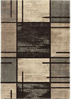 Orian Gray Contemporary Synthetics Lines Blocks Shaded Area Rug Geometric 4301