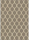 Orian Gray Teardrop Curves Lattice Ovals Transitional Area Rug Geometric 3403