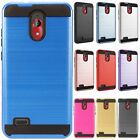 For ZTE Grand X Max 2 IMPACT HYBRID Plating Case Skin Phone Cover + Screen Guard