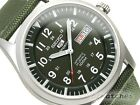 SEIKO 5 SPORTS AUTOMATIC MEN WATCH SNZG09K1 FREE EXPRESS GREEN NYLON BAND SNZG09