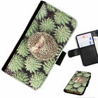 CAM24 HEDGEHOG PRINTED LEATHER WALLET/FLIP PHONE CASE COVER FOR ALL MODELS