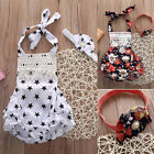 Newborn 6 12 18 24 Months Romper Headbad Baby Girls Outfits Summer Clothes New