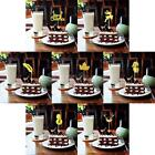 20pcs of Cute Glitter Merry Christmas 7 Theme Cake Topper Xmas Party Home Décor
