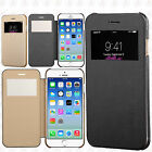 For iPhone 6 / 6S Premium Silk Wallet Case Window Flip Case Phone Cover