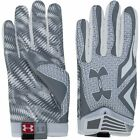 NWT MN 1260677 103 UNDER ARMOUR SWARM GRAY/WHITE CLUTCH FIT FOOTBALL GLOVES  $50
