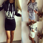 Womens Winter Dress Long Sleeve Tops Ladies Hoodie Jumper Sports Pocket Sweater