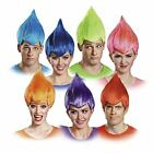 Trolls Wig Adult Costume Men Women Movie Blue Pink Green Orange Red Purple Group