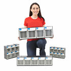 Tool Parts Bins Stack & Wall Mount DIY Garage Workshop Tool Compartment Unit Set