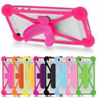 Silicone Card Pocket Holder Case Kickstand Bumper Skin Cover For Various Phones