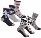 Zest Boys Cotton Rich Football Themed Short Socks
