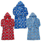 Kidz Boys Supersoft Fleece Football Dressing Gown