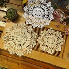 30cm Vintage Round Cotton Doilies Placemat Hand Crocheted Lace Flower Coasters